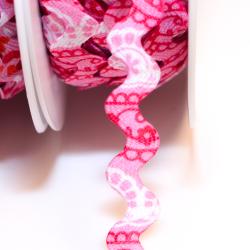 """Zackenlitze """"Zärtlichkeit"""" Muster pink"""