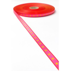 Sterneband pink-gelb
