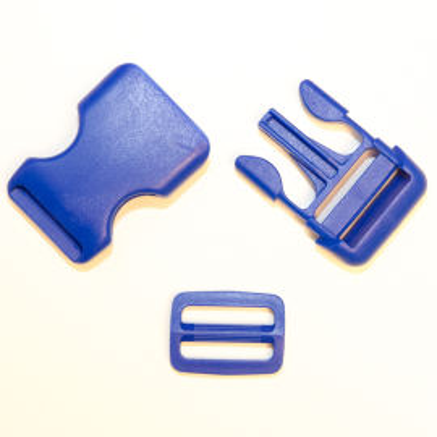 Steckschnallen mit Schieber B16 dunkelblau