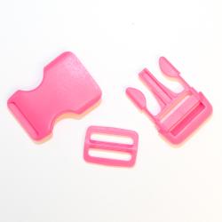 Steckschnallen mit Schieber B47 pink