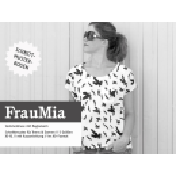 FrauMia - lockere Raglanbluse aus Webware