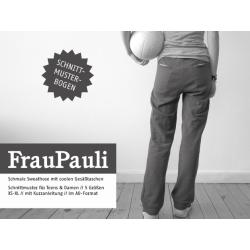 FrauPauli - schmale Sweathose mit coolen Taschen
