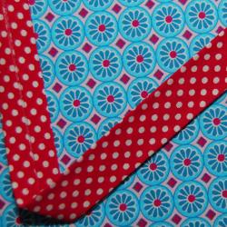 Schrägband rot mit weissen Punkten