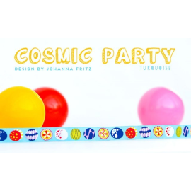 Cosmic Party türkis Webband