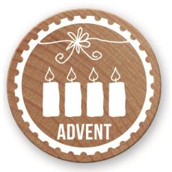 "Woodies Stempel ""Advent"""