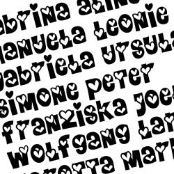 Herzschrift bis 9-15  Buchstaben