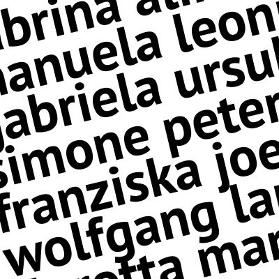 Schnörkellos bis 6 Buchstaben