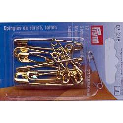 Sicherheitsnadeln Messing goldfarbig 12 Stück