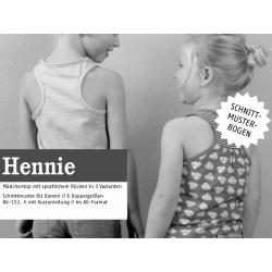 Hennie - Mädchentop mit sportlichem Rücken