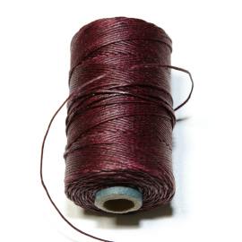 Irish waxed linen 4 ply Maroon