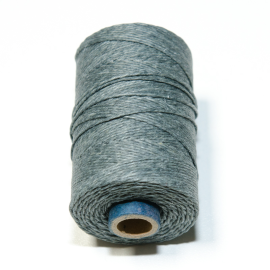Irish waxed linen 4 ply Slate Grey