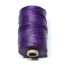 Irish waxed linen 4 ply Plum