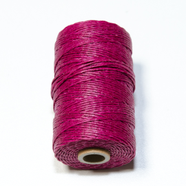Irish waxed linen 4 ply Magenta