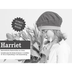 Harriet - Asymetrische Baskenmütze aus Jersey