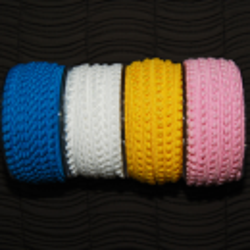 Mini-Pomponband, gelb