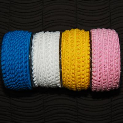 Mini-Pomponband, weiss