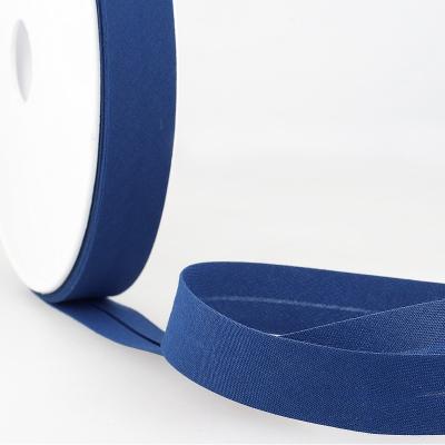 Schrägband uni blau
