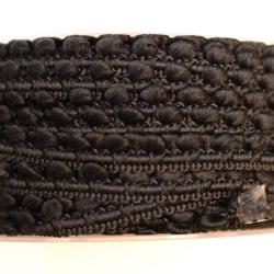 Mini-Pomponband schwarz