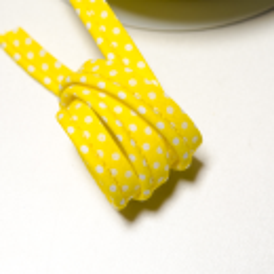 "Paspel ""Punkte"" gelb-weiss"
