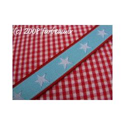 Sterneband, rot-hellblau