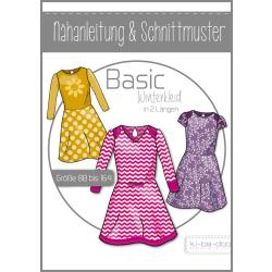 Basic Winterkleid in 2 Längen Kinder