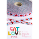 Cat love pink Webband
