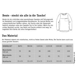 Bente - lässiger Sweater mit (oder ohne) Brusttasche