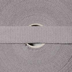 Baumwollgurtband 25mm grau