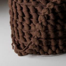 Pomponband 16 mm dunkelbraun