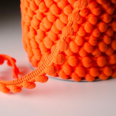 Pomponband 16 mm orange