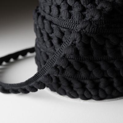 Pomponband 16 mm schwarz