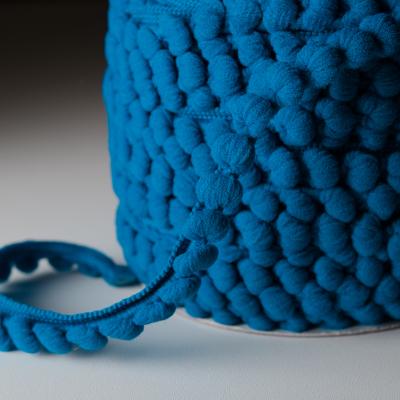 Pomponband 16 mm royalblau