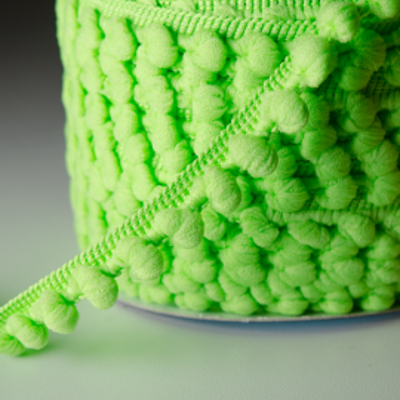 Pomponband 16 mm hellgrün