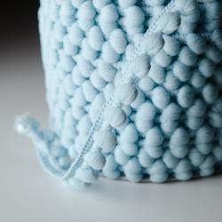 Pomponband 16 mm hellblau