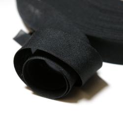 Schrägband uni schwarz