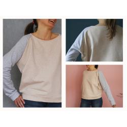 FrauMona - Raglansweater mit schmalen Ärmeln