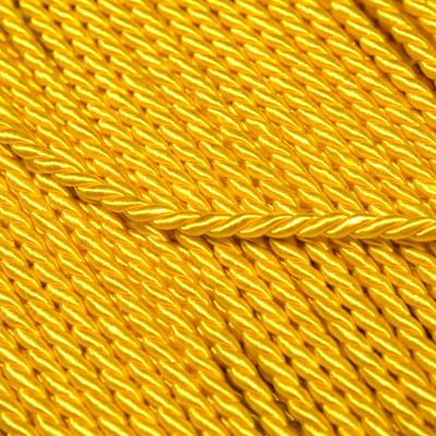 Kordel gedreht 3.5mm gelb