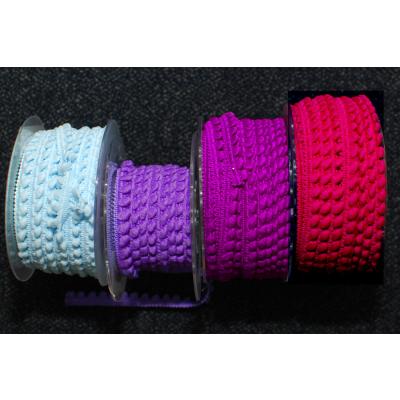 Mini-Pomponband fuchsia