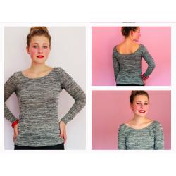FrauNikki - Basicshirt mit tiefem Rückenausschnitt