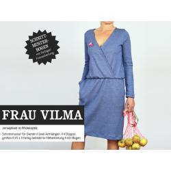 FrauVilma - Jerseykleid mit Wickeloptik und Taschen