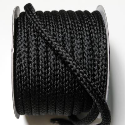 Kordel geflochten 8 mm schwarz