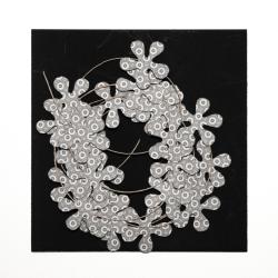 Blumengirlande schwarz/weiss Muster 8