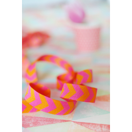 Chevron-Webband pink-orange