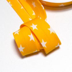 Schrägband Sterne gelb-weiss