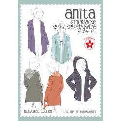 Anita, Mädchen-Strickjacke, Papierschnittmuster
