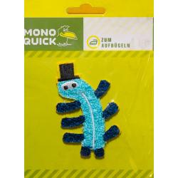 Aufbügler Monster blau