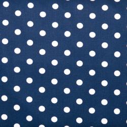 """Baumwolle """"Dots"""" marine"""