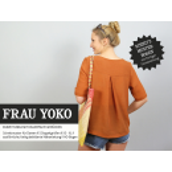 Frau Yoko - Kurze Tunika mit Kellerfalte im Rücken