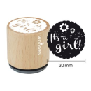 """Woodies Stempel """"Its a girl"""""""