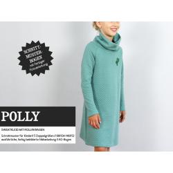 Polly - gemütliches Sweatkleid mit Rollkragen
